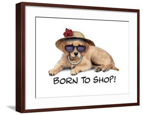 Shop Pup--Framed Art Print