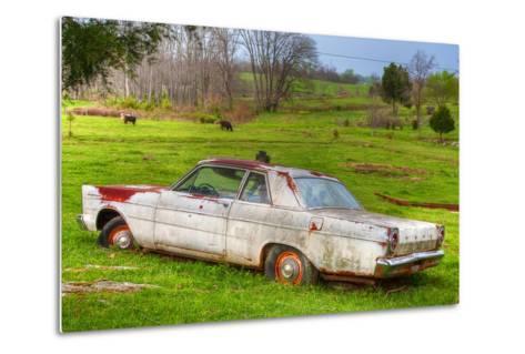 '65 White Ford Custom-Bob Rouse-Metal Print