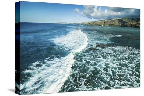 Hawaii Kai Waves-Cameron Brooks-Stretched Canvas Print