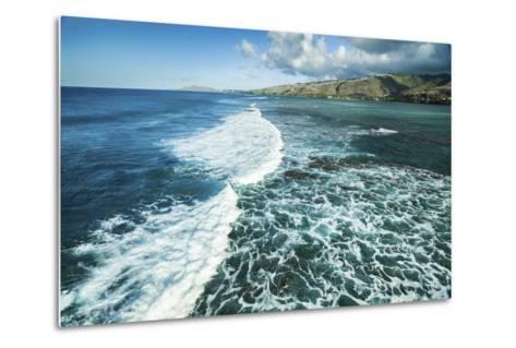 Hawaii Kai Waves-Cameron Brooks-Metal Print
