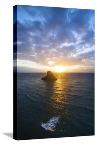 Chinamans Hat Sunrise-Cameron Brooks-Stretched Canvas Print