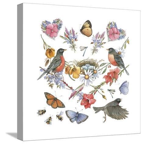 Robins--Stretched Canvas Print