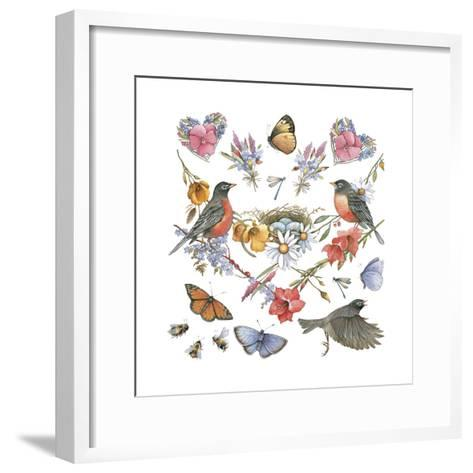 Robins--Framed Art Print