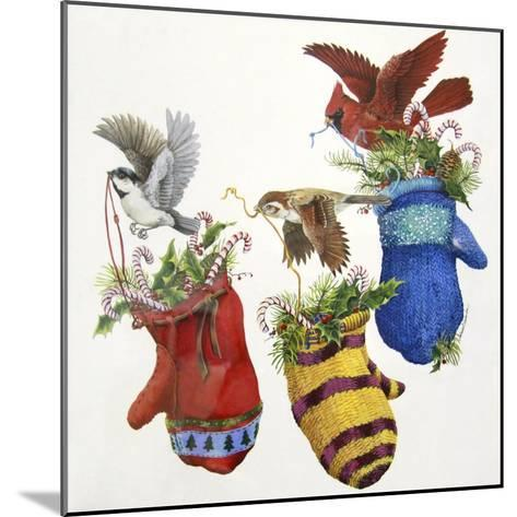 Three Little Mittens--Mounted Giclee Print