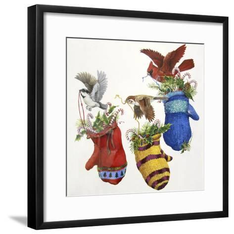 Three Little Mittens--Framed Art Print