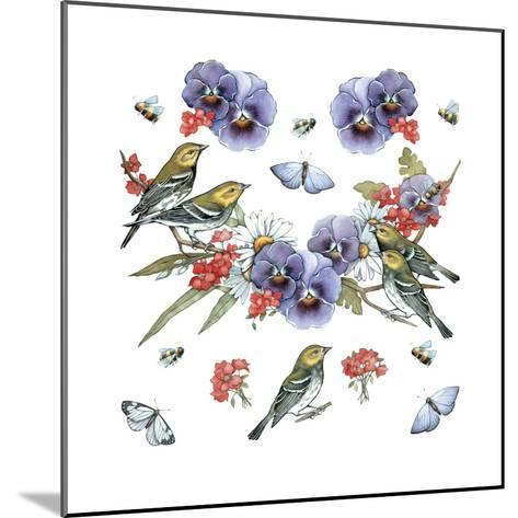 Warblers--Mounted Giclee Print