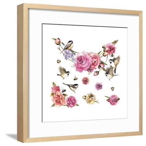 Flowers and Birds--Framed Art Print