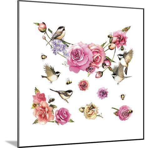 Flowers and Birds--Mounted Giclee Print