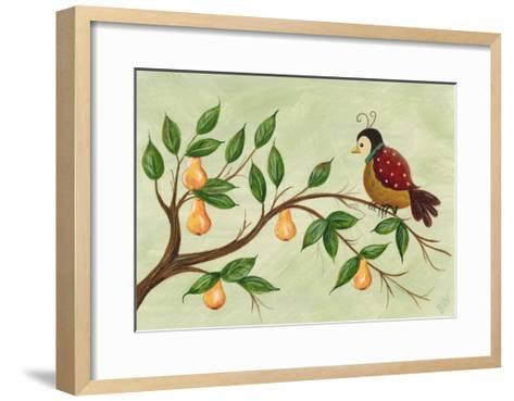 Partridge in a Pear Tree-Beverly Johnston-Framed Art Print