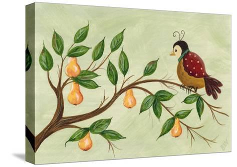 Partridge in a Pear Tree-Beverly Johnston-Stretched Canvas Print