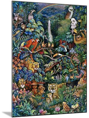 Rainbow Rainforest-Bill Bell-Mounted Giclee Print