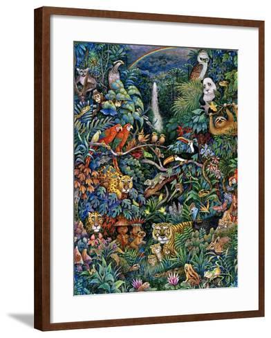 Rainbow Rainforest-Bill Bell-Framed Art Print