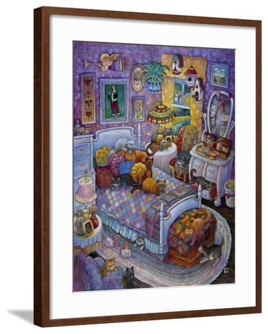 More Cats and Quilts-Bill Bell-Framed Art Print