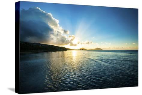Kahala Sunrise-Cameron Brooks-Stretched Canvas Print