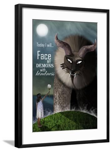 Face your Demons-Carrie Webster-Framed Art Print