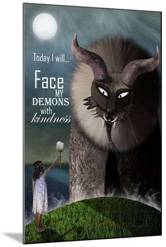 Face your Demons-Carrie Webster-Mounted Giclee Print