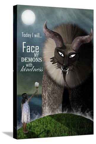 Face your Demons-Carrie Webster-Stretched Canvas Print