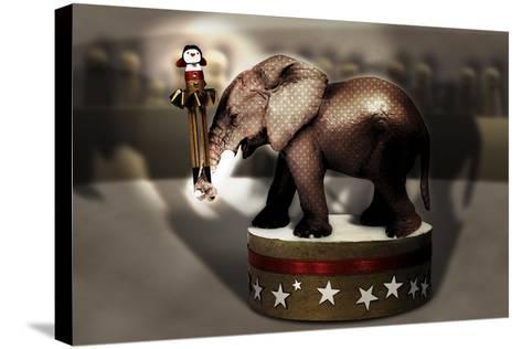 Elephant Dancer-Carrie Webster-Stretched Canvas Print