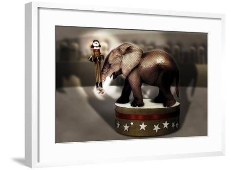 Elephant Dancer-Carrie Webster-Framed Art Print