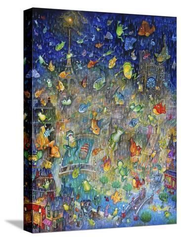 Raining Frogs and Fishes-Bill Bell-Stretched Canvas Print