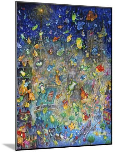 Raining Frogs and Fishes-Bill Bell-Mounted Giclee Print