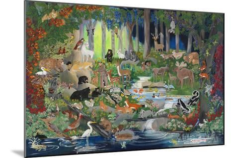 With St. Francis #1 - Forest Glade-Carol Salas-Mounted Giclee Print