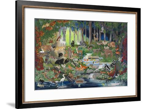With St. Francis #1 - Forest Glade-Carol Salas-Framed Art Print