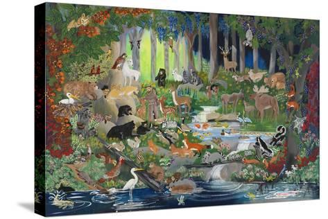 With St. Francis #1 - Forest Glade-Carol Salas-Stretched Canvas Print