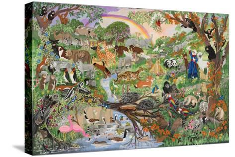 Noah's Rainbow #5-Carol Salas-Stretched Canvas Print