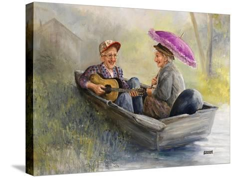 Elderly Couple-Dianne Dengel-Stretched Canvas Print