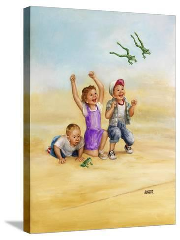 Frog Race-Dianne Dengel-Stretched Canvas Print