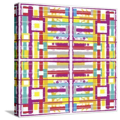 Boxes and Stripes-Deanna Tolliver-Stretched Canvas Print