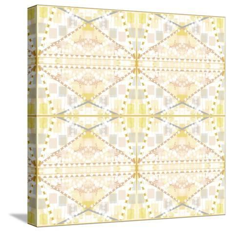 Earthy Dots and Squares-Deanna Tolliver-Stretched Canvas Print