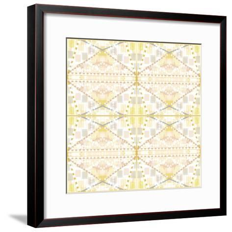 Earthy Dots and Squares-Deanna Tolliver-Framed Art Print