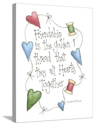 Friendship Is the Golden Thread-Debbie McMaster-Stretched Canvas Print
