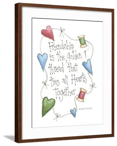Friendship Is the Golden Thread-Debbie McMaster-Framed Art Print