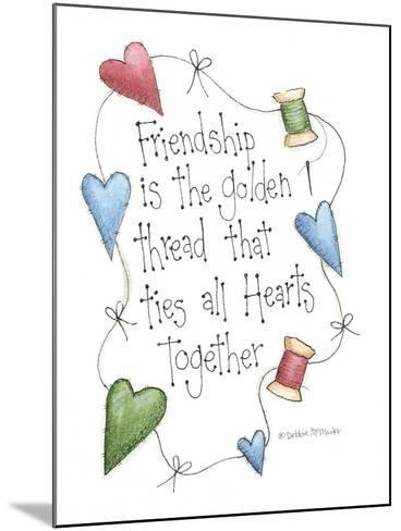 Friendship Is the Golden Thread-Debbie McMaster-Mounted Giclee Print