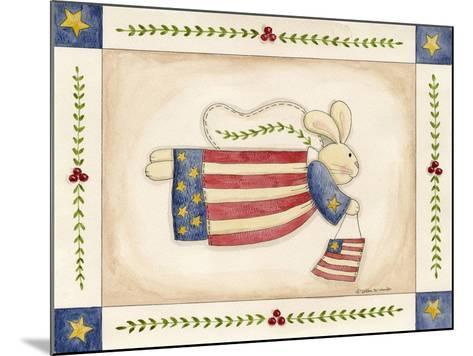 Patriotic Bunny Angel with Flag-Debbie McMaster-Mounted Giclee Print