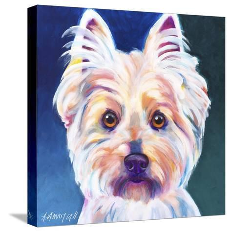 Westie Rockette-Dawgart-Stretched Canvas Print