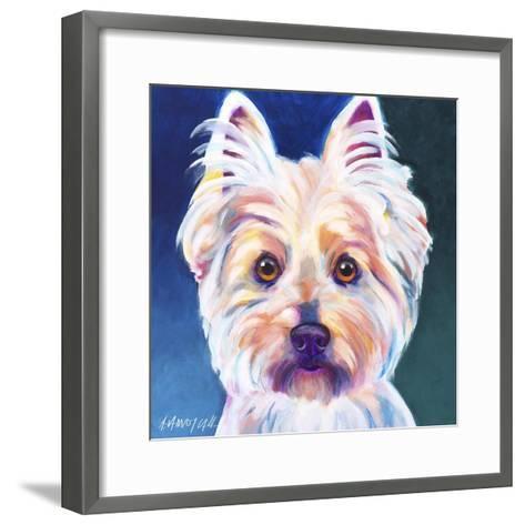 Westie Rockette-Dawgart-Framed Art Print