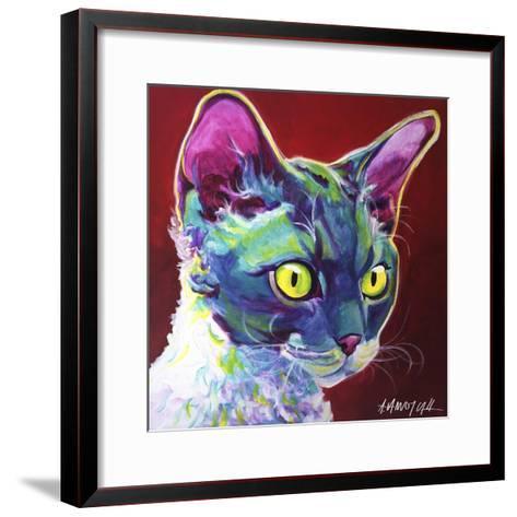 Cat - Devon Rex-Dawgart-Framed Art Print