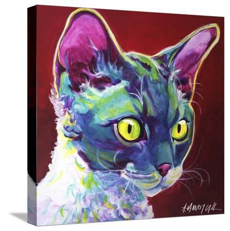 Cat - Devon Rex-Dawgart-Stretched Canvas Print