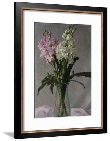 Pink and White Stock 2-Bob Rouse-Framed Art Print