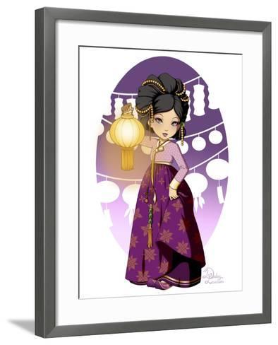 Purple Festival- Dalliann-Framed Art Print