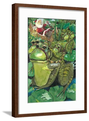 Splashing Through the Pond-Denny Bond-Framed Art Print