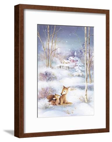 Deer-DBK-Art Licensing-Framed Art Print