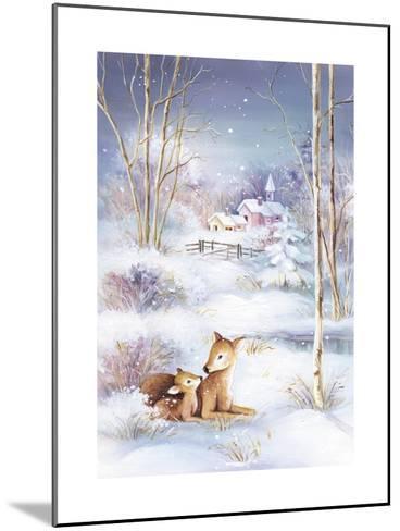 Deer-DBK-Art Licensing-Mounted Giclee Print