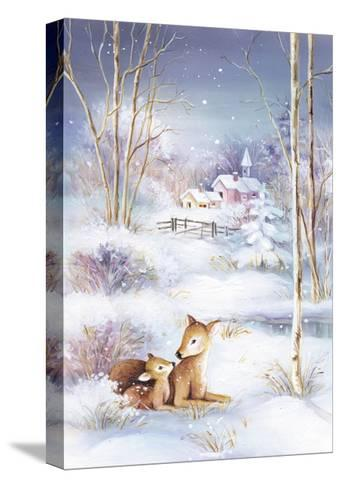 Deer-DBK-Art Licensing-Stretched Canvas Print