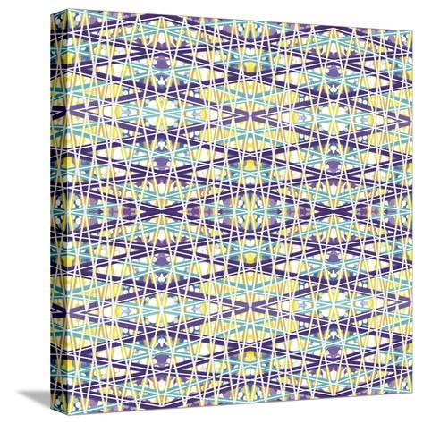 Zig Zag Overlay-Deanna Tolliver-Stretched Canvas Print