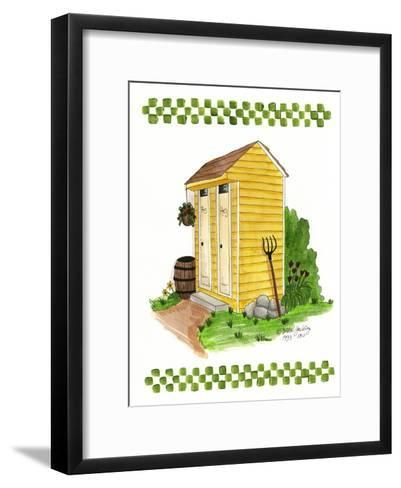 Yellow Double Outhouse-Debbie McMaster-Framed Art Print